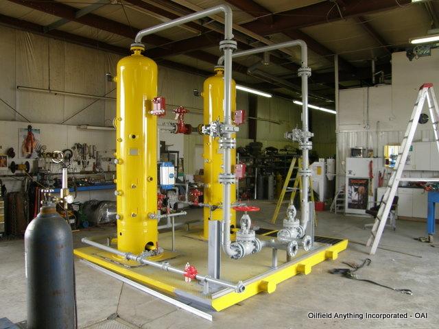 dual vertical separator