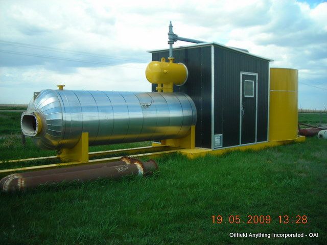 100 barrell tank pop valve treater separator